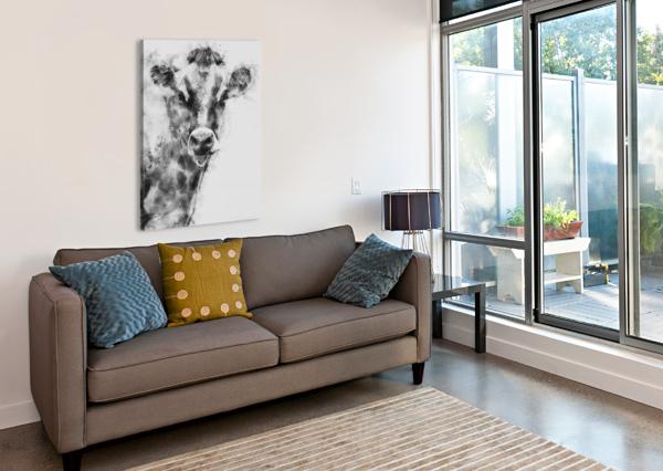 DAIRY COW BLACK AND WHITE BOB ORSILLO  Canvas Print