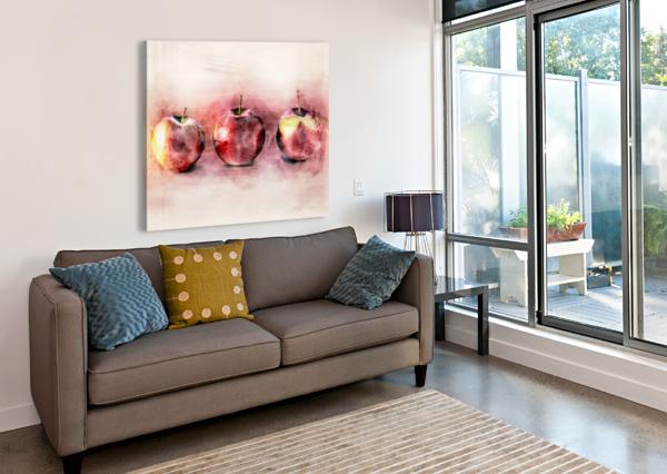 THREE APPLES BOB ORSILLO  Canvas Print