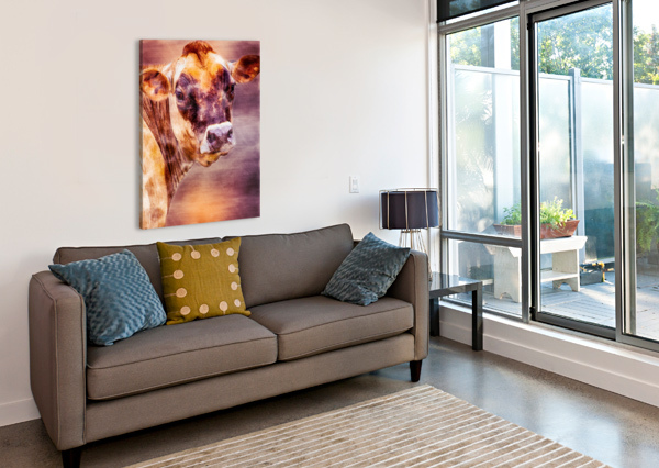 BEAUTIFUL DAIRY COW BOB ORSILLO  Canvas Print