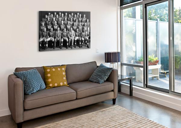 1954 UNIVERSITY OF MICHIGAN FOOTBALL TEAM PHOTO ROW ONE BRAND  Canvas Print