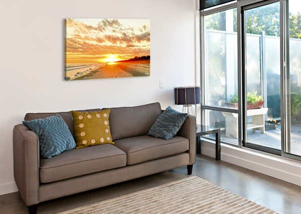 THE DAY ENDS AT THE SEASHORE 360 STUDIOS  Canvas Print