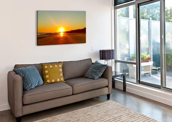 SUNSET AT THE ATLANTIC SHORE 24  Canvas Print