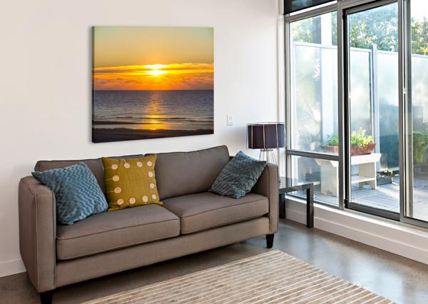 BLUE MORNING SUNRISE 1NORTH  Canvas Print