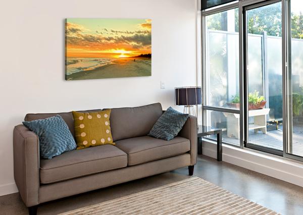 THE CAROLINA SUNSET 1NORTH  Canvas Print