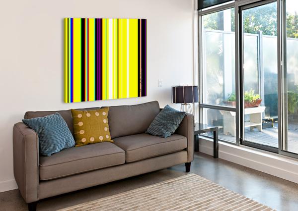 COLOR BARS 2 ALANA ROTHSTEIN  Canvas Print