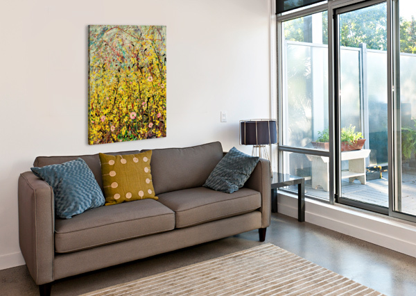SYMPHONY IN YELLOW PANEL 2 ANGIE WRIGHT ART  Canvas Print
