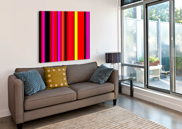 COLOR BARS 1 ALANA ROTHSTEIN  Canvas Print