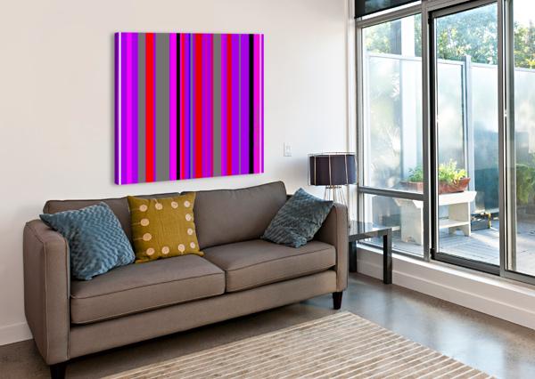 COLOR BARS 4 ALANA ROTHSTEIN  Canvas Print