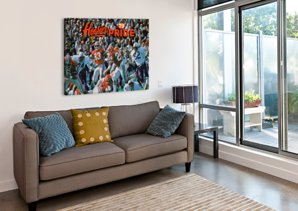 1979 INDIANA HOOSIERS FOOTBALL ART ROW ONE BRAND  Canvas Print