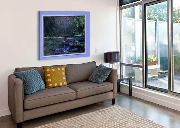 A SWAMP CONCERT  ACRYL ON CANVAS 80X60  FRAMED  SA COLOUR CREATIONS  Canvas Print