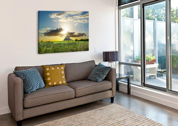 MOUNT SAINT MICHAEL NORMANDY FRANCE - GALLERY 2017 ARTWORK OF THE YEAR WINNER 360 STUDIOS  Canvas Print
