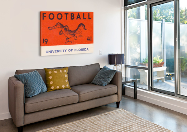 1941 FLORIDA GATORS FOOTBALL ROW ONE BRAND  Canvas Print