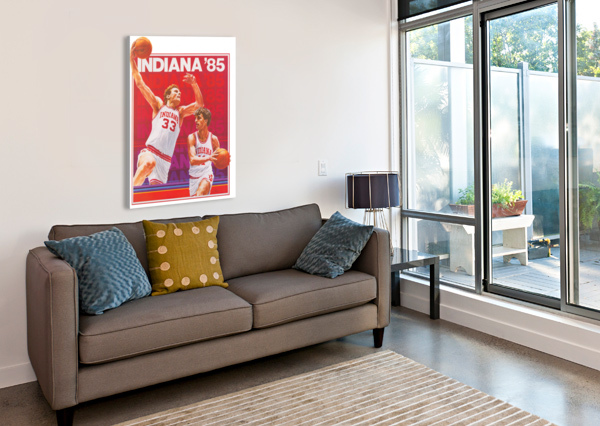 1985 INDIANA HOOSIERS BASKETBALL ART ROW ONE BRAND  Canvas Print