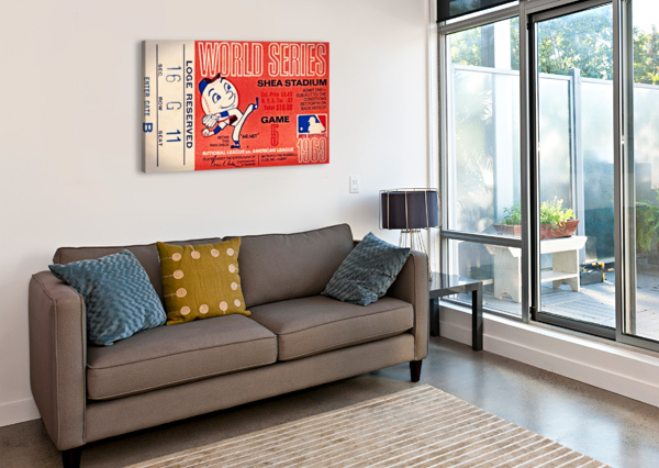 1969 NEW YORK METS GAME 5 TICKET ART ROW ONE BRAND  Impression sur toile