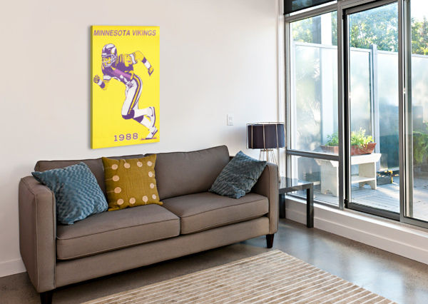 1988 MINNESOTA VIKINGS FOOTBALL POSTER ROW ONE BRAND  Canvas Print