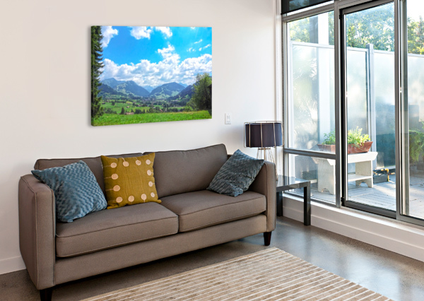 THE LAST PARADISE IN A CRAZY WORLD GSTAAD SWITZERLAND 24  Canvas Print