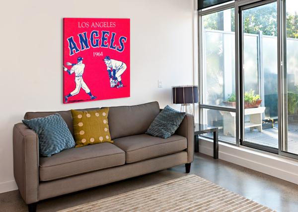 1964 LOS ANGELES ANGELS BASEBALL ART ROW ONE BRAND  Canvas Print
