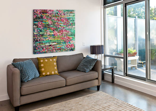 CHERRY BLOSSOMS ANGIE WRIGHT ART  Canvas Print