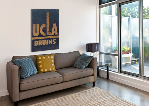 VINTAGE UCLA BRUINS ART ROW ONE BRAND  Canvas Print
