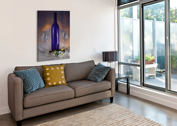 SUNSET AND WINE JACQUELINE SLETER  Canvas Print