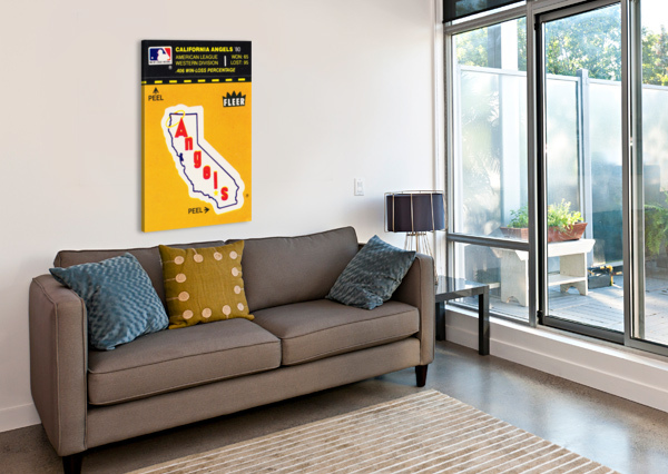 1981 FLEER DECAL POSTER CALIFORNIA ANGELS ROW ONE BRAND  Canvas Print