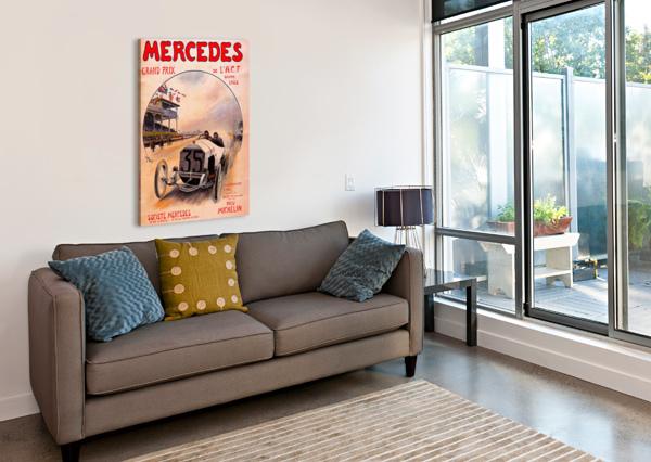 MERCEDES GRAND PRIX VINTAGE POSTER  Canvas Print