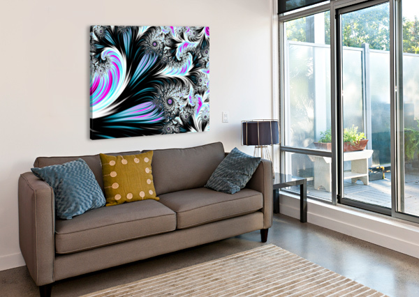 ABSTRACT BACKGROUND WAVES. DIVINE KANZA  Canvas Print