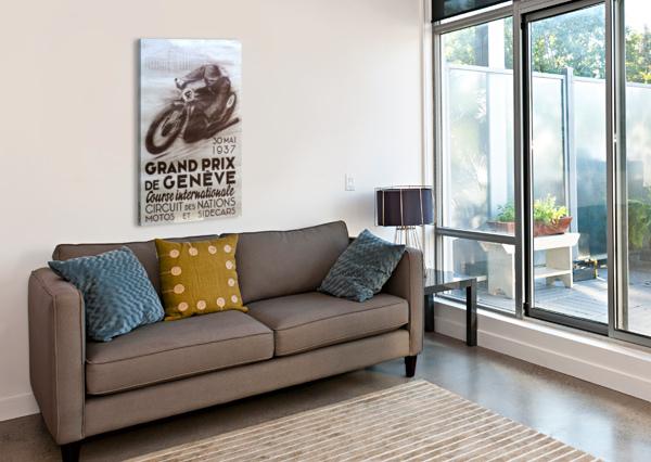 GRAND PRIX DE GENEVE VINTAGE POSTER  Canvas Print