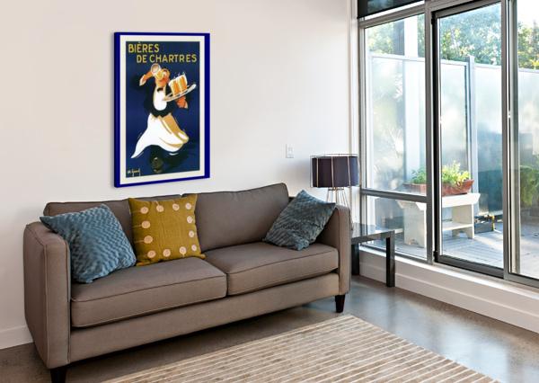 BIERES DE CHARTES VINTAGE POSTER  Canvas Print