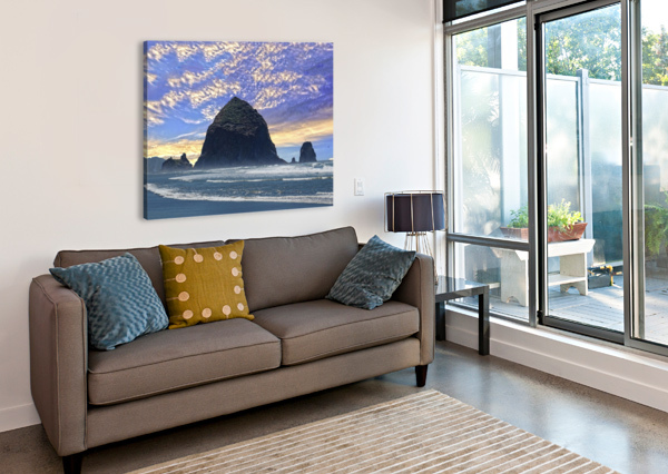 HAYSTACK ROCK AT CANNON BEACH 360 STUDIOS  Canvas Print
