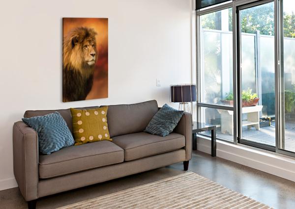 LION LEGACY - LION ART BY JORDAN BLACKSTONE JORDAN BLACKSTONE  Canvas Print