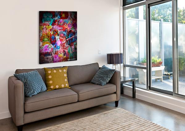 BIG STREET ART  EDMOND GARNIER  Canvas Print