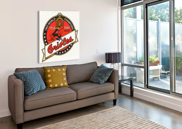 1983 BALTIMORE ORIOLES WORLD CHAMPIONS ART ROW ONE BRAND  Impression sur toile