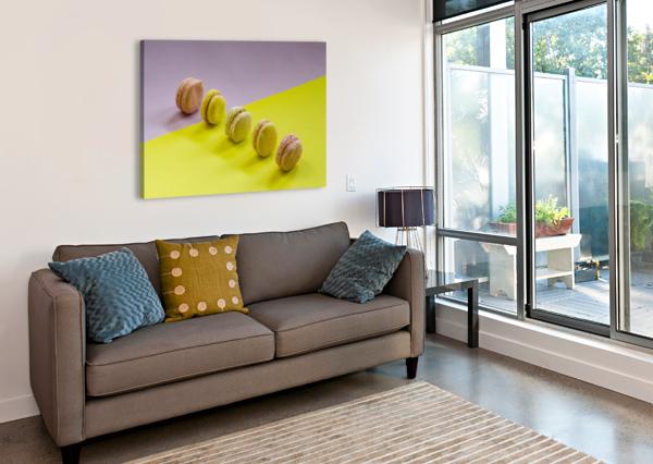 FOOD MACAROON PHOTOGRAPHY GOLDEN ART AVENUE  Canvas Print