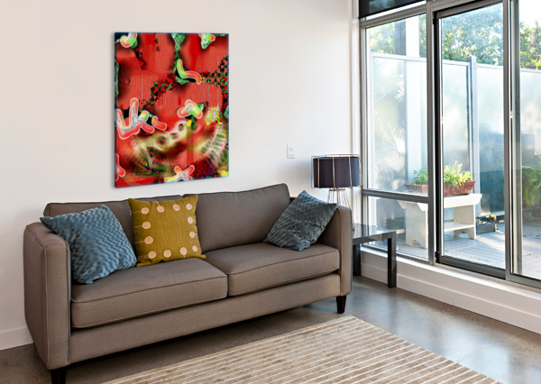 RESIDENTS OF A GROWLING STOMACH ED PURCHLA  Canvas Print