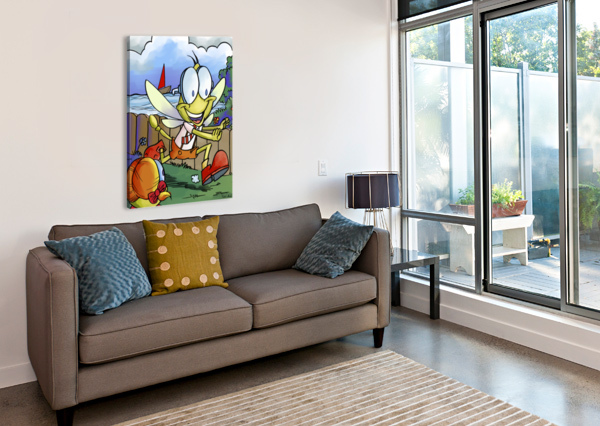DAG DRAGONFLY - THE CHASE ROBERT STANEK  Canvas Print