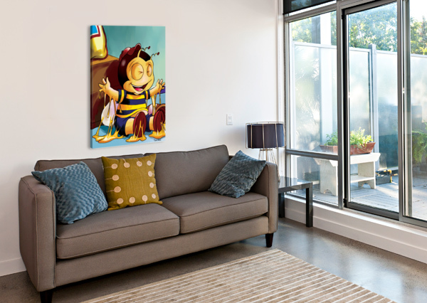 STICKY MESS - TOO MUCH HONEY BUSTER BEE ROBERT STANEK  Canvas Print
