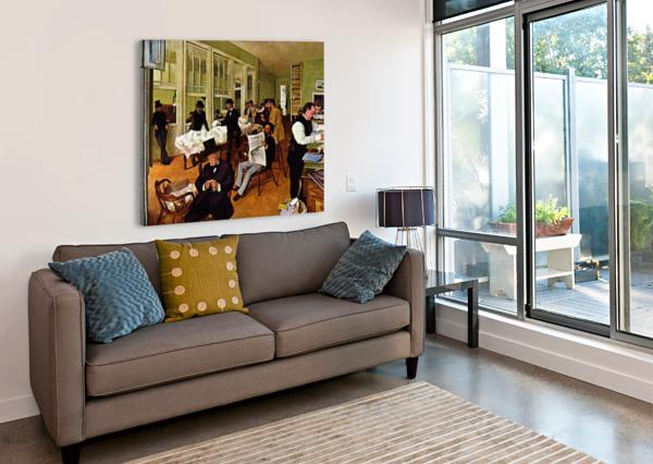 THE COTTON EXCHANGE BY DEGAS DEGAS  Canvas Print