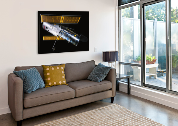 NASA HUBBLE SPACE TELESCOPE SIDE - OUTER SPACE IMAGE BILL SWARTWOUT PHOTOGRAPHY  Canvas Print