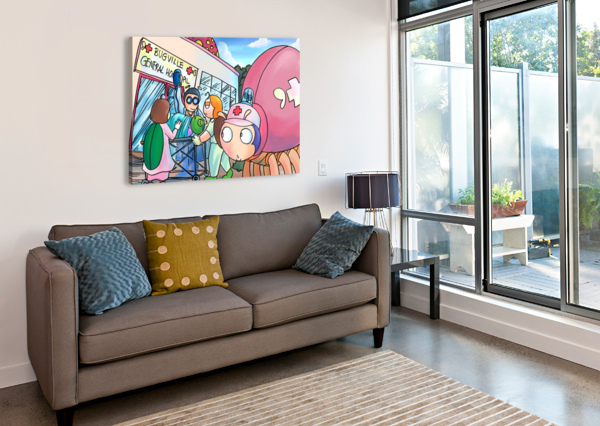 AT THE GENERAL HOSPITAL - PLACES IN BUGVILLE COLLECTION 4 OF 4 ROBERT STANEK  Canvas Print