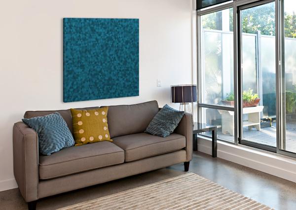 DARK BLUE GLITTER PATTERN RIZU_DESIGNS  Canvas Print