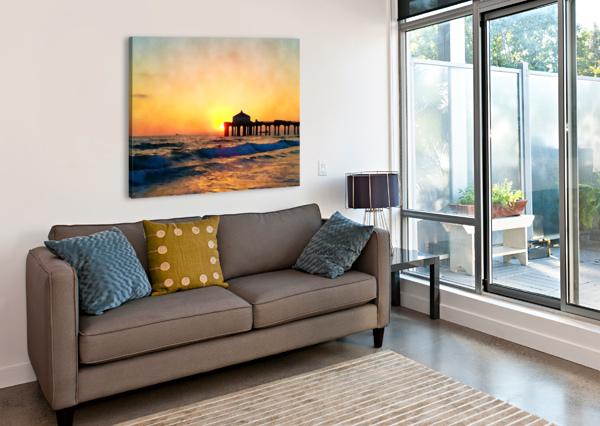 MANHATTAN BEACH SUNSET WALL ART PIERCE ANDERSON  Canvas Print