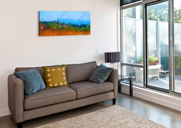 LOS ANGELES SKYLINE ART PIERCE ANDERSON  Canvas Print