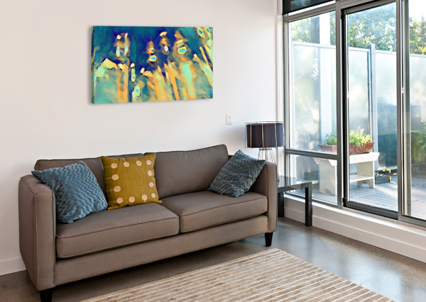 INSIDE OF GLASS PIERCE ANDERSON  Canvas Print