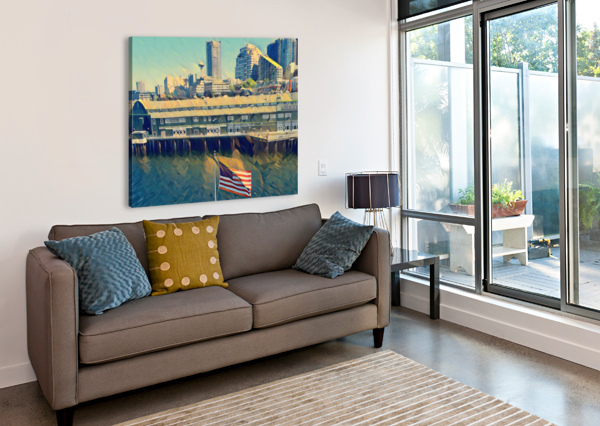 SEATTLE SKYLINE PIERCE ANDERSON  Canvas Print
