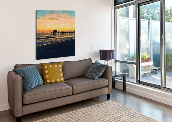 MANHATTAN BEACH SUNSET PIERCE ANDERSON  Canvas Print