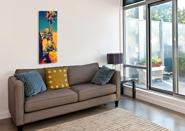 MANHATTAN BEACH PALM TREES PIERCE ANDERSON  Canvas Print
