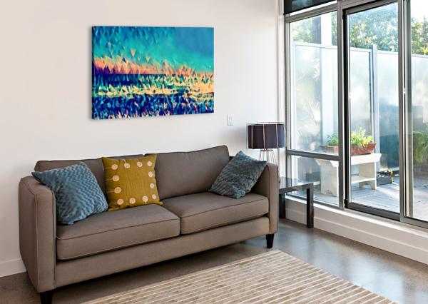 ABSTRACT BLUE SKY OCEAN PIERCE ANDERSON  Canvas Print