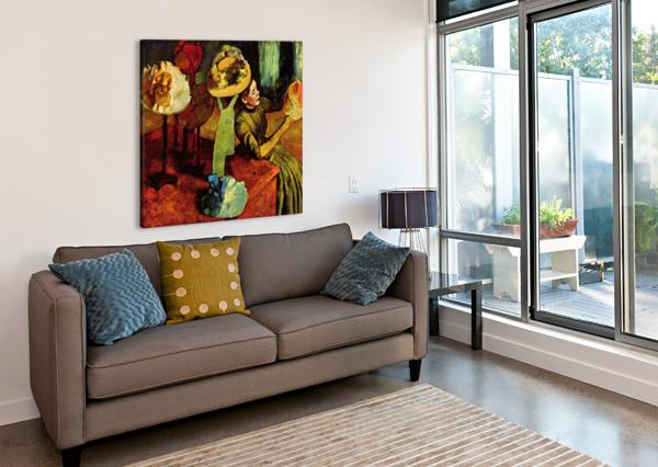 THE FASHION SHOP BY DEGAS DEGAS  Canvas Print