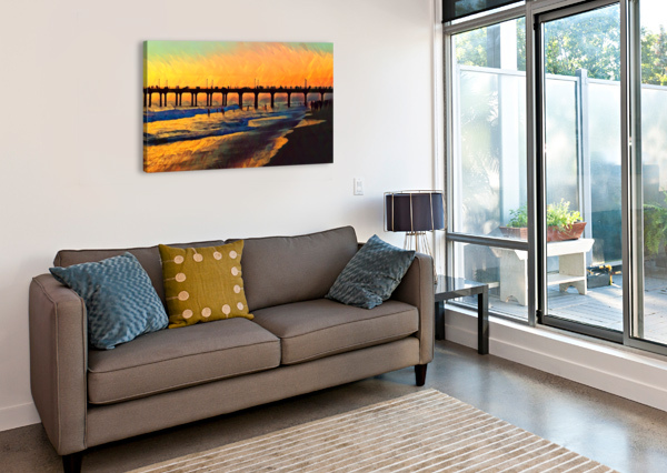MANHATTAN BEACH SUNSET ART PIERCE ANDERSON  Canvas Print